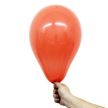Balão Bexiga Liso Coral Nº 9 23cm - 50 Unidades
