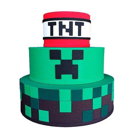 Bolo Fake Decorativo Minecraft