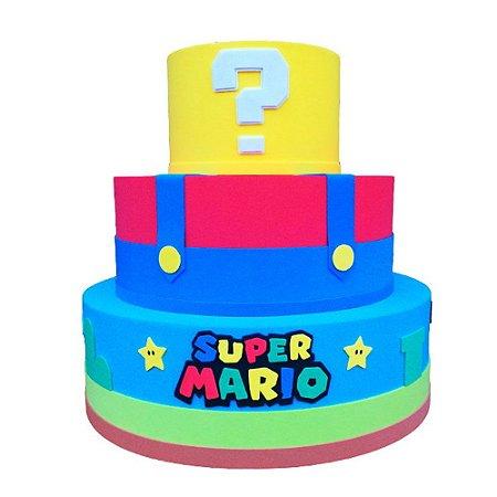 Bolo Fake Decorativo Super Mario Modelo 2