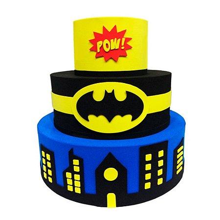 Bolo Fake Decorativo Batman