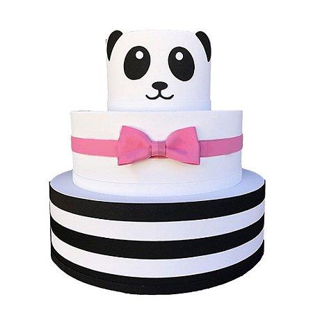 Bolo Fake Decorativo Panda