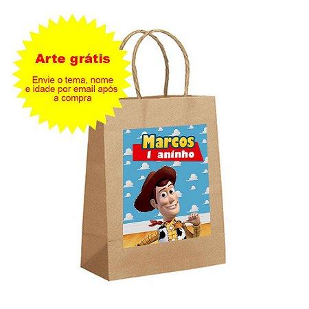 Sacolas de Papel Kraft Personalizadas Tamanho P