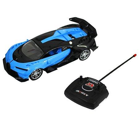 Carro de Controle Remoto Bugatti Azul