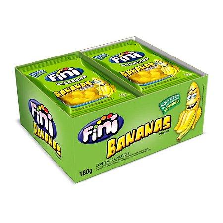 Caixa Fini Bananas Bala Gelatina 15g com 12 Unidades
