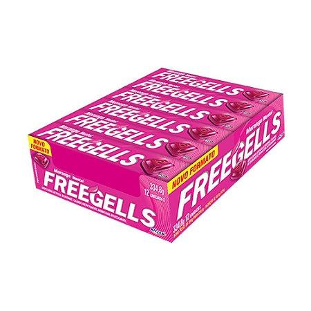 Caixa Bala Freegells Morango Mentol com 12 Unidades