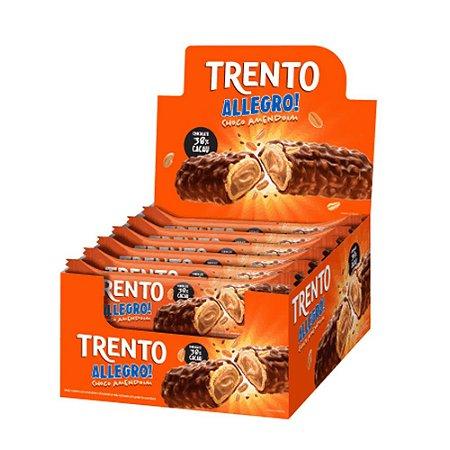 Caixa Chocolate Trento Allegro 35g com Recheio de Amendoim com 16 Unidades