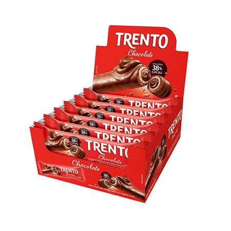 Caixa Chocolate Trento 32g Recheado Sabor Chocolate com 16 Unidades
