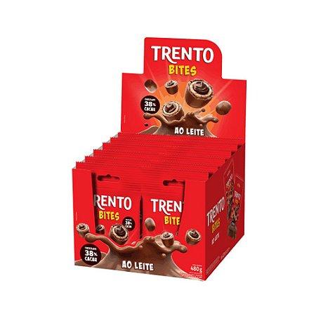 Caixa Chocolate Trento Bites Recheio ao Leite 40g com 12 Unidades