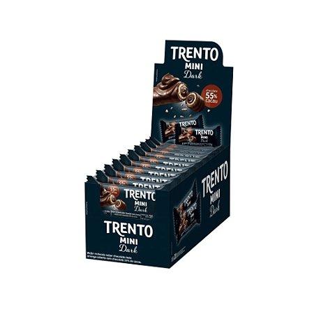 Caixa Chocolate Trento Mini Recheio Dark 16g com 20 Unidades