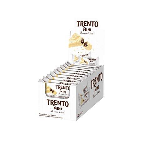 Caixa Chocolate Branco Trento Mini Recheio Dark 16g com 20 Unidades