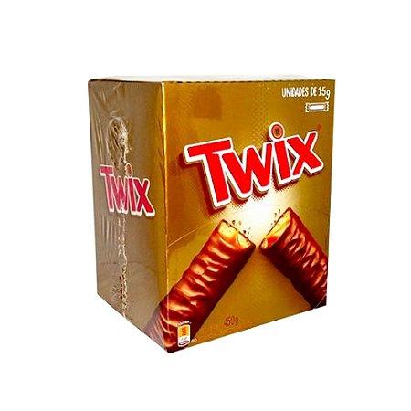 Caixa Chocolate Twix com Caramelo 15g com 30 Unidades