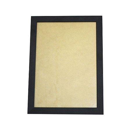 Quadro Moldura e Vidro Preto para Poster 30x21 - 1 Unidade