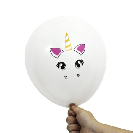 Balão Bexiga Festa Unicórnio Branca Nº 11 28cm - 25 Unidades