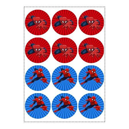 12 Adesivos Homem Aranha Redondo 6 5cm Emporio Das Lembrancinhas