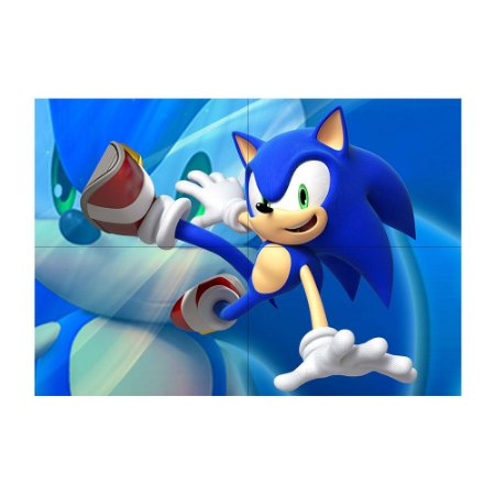 Painel de Festa Decorativo Sonic - 1 Unidade
