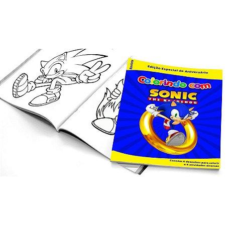 5 Cadernos de Colorir Sonic