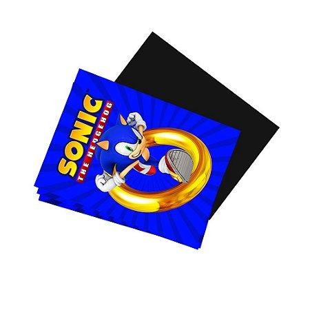 8 Imãs de Geladeira Sonic 74x105mm