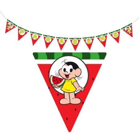 10 Bandeirolas Triangular Magali