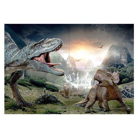 Painel de Festa Decorativo Dinossauros - 1 Unidade
