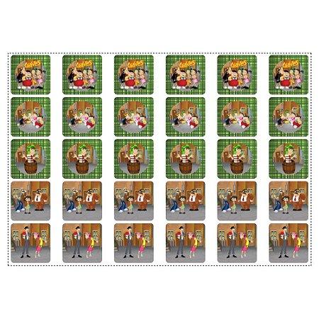 30 Adesivos Chaves Quadrado 3,7cm