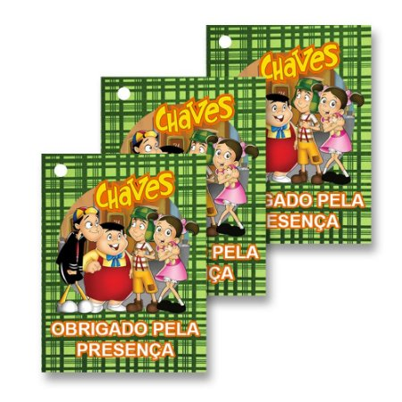30 Tags Chaves 4x3cm