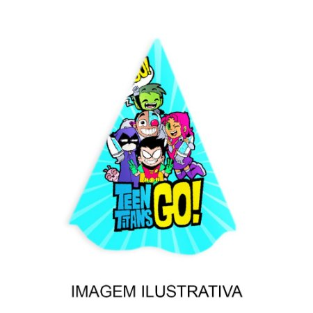 5 Chapéus de Festa Teen Titans