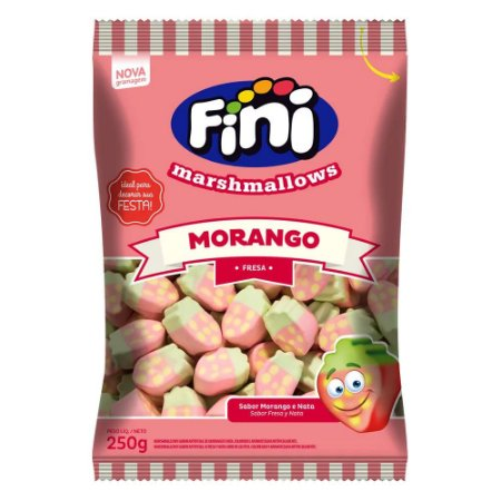 Marshmallow Fini Morango 250g