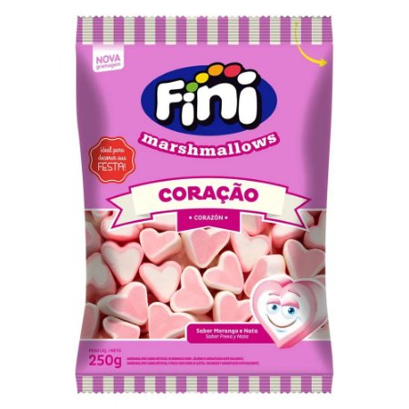 Marshmallow Fini Coração 250g