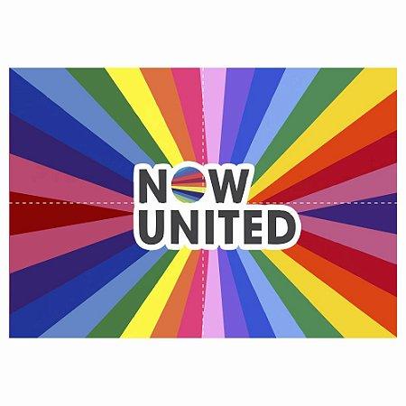 Painel de Festa Decorativo Now United - 1 Unidade