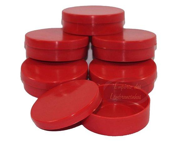 Atacado - Latinhas de Plástico Mint to Be 5,5x1,5 cm Vermelhas - Kit com 1.000 unids