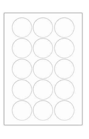 Adesivo / Etiqueta / Rótulo Fotográfico Brilhoso - Redondo 4,7 cm - Jato de Tinta Folha - C/ 1.040 unids