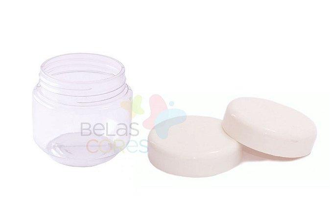 Pote de Papinha de Plástico 120gr - Branco - 10 Unids