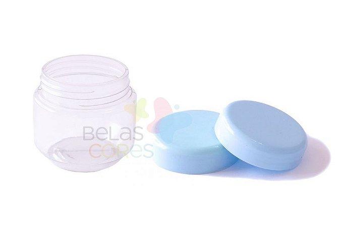 Pote de Papinha de Plástico 120gr - Azul Bebê - 10 Unids