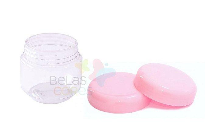 Pote de Papinha de Plástico 120gr - Rosa Bebê - 10 Unids
