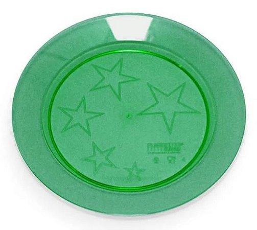 Prato pip 018 redondo Verde Escuro Plastilânia - 10 unidades