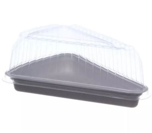 Embalagem para Confeitaria  Fatia Para Bolo 500ml Prafesta - 5 Unidades