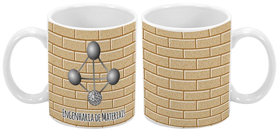 Caneca Profissão 300 ml Engenharia de Materiais - 1 unidade