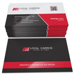 Cartão Visita Laminação Fosca Verniz Localizado - Couche 300