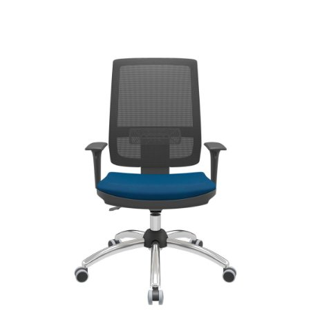 Cadeira Diretor Escritório Brizza Giratória Encosto em Tela Braços Reguláveis Ergonomica Home Office Corporativa