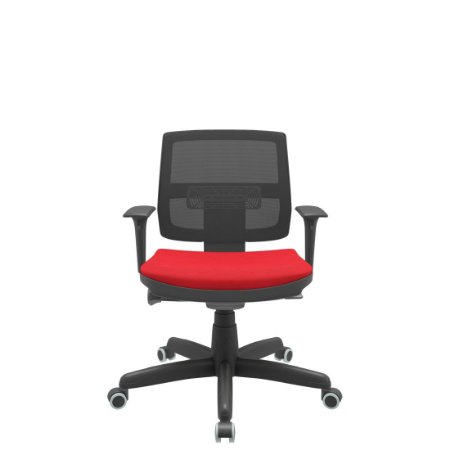 Cadeira Executiva Escritório Giratória Encosto em Tela Braços Reguláveis Brizza  Ergonomica Home Office Corporativa