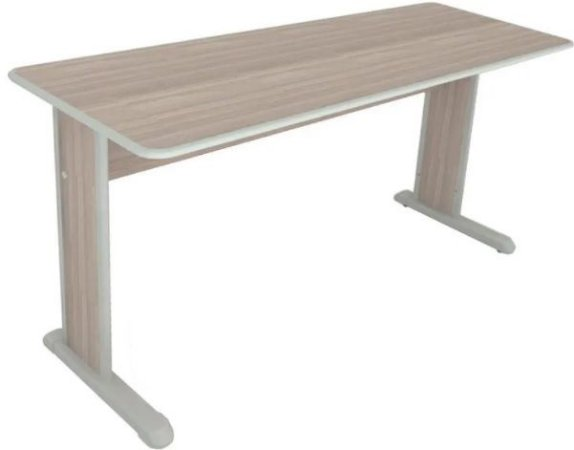 Mesa para Escritório Corporativa Home Office Reta 1,00 X 0,60 M 15 mm Escrivaninha