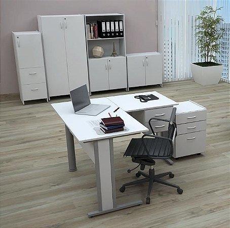 Mesa Escritório Em L 1,20 X 1,20 M 15 Mm Home Office Escrivaninha