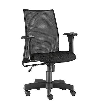 Cadeira Escritório Tela Mesh Braço Regulável Executiva Giratória