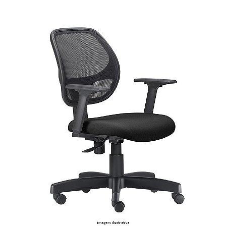 Cadeira Escritório Giratória Job Tela Executiva Braços Reguláveis Relax WFS Móveis