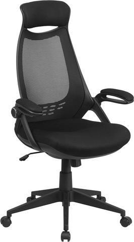 Cadeira Para Escritório Presidente Tela Giratória Home Office Braços Rebativeis