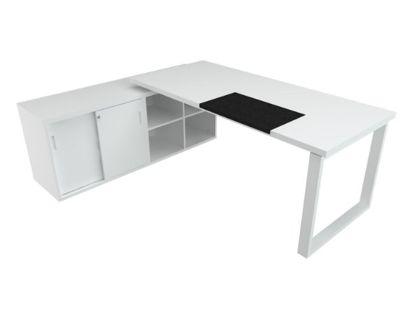 Mesa L Diretiva Executiva Escritório 36 Mm 1,60 x 1,60 M Home Office
