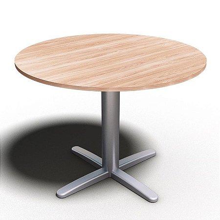 Mesa para Sala de Reunião Redonda Office Ø 1,20 X 0,75 M 18 Mm
