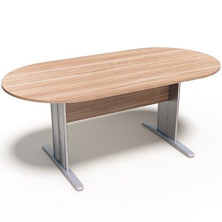 Mesa para Sala Reunião Oval Móveis Escritório 1,80 x 0,90 x 0,74 m 18 mm