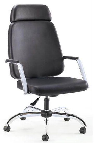 Cadeira Escritório Presidente Giratória Home Office Obeso 200 Kg Reforçada Braço Fixo Cromada