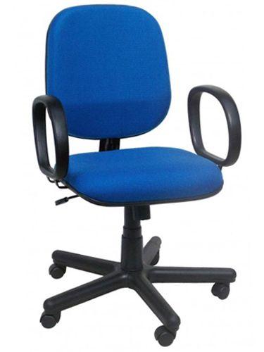 Cadeira Para Escritório Diretor Giratória Home Office Relax Braços Fixos